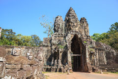 South gate of angkor thom Stock Photography