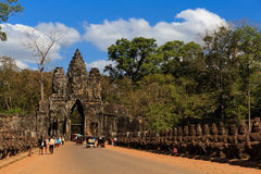 South Gate of Angkor Thom royalty free stock images