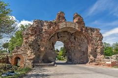 The South gate - The Camels of ancient roman fortifications in Diocletianopolis, town of Hisarya, Bulgaria Royalty Free Stock Photos