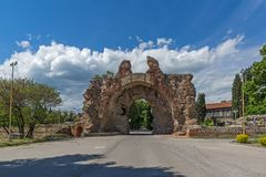 The South gate - The Camels of ancient roman fortifications in Diocletianopolis, town of Hisarya, Bulgaria Royalty Free Stock Photography