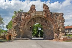 The South gate - The Camels of ancient roman fortifications in Diocletianopolis, town of Hisarya, Bulgaria Stock Image