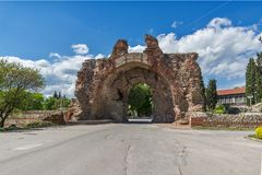 The South gate - The Camels of ancient roman fortifications in Diocletianopolis, town of Hisarya, Bulgaria Royalty Free Stock Image