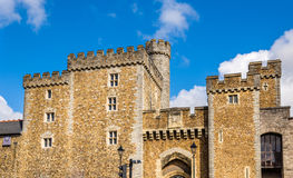 South Gate of Cardiff Castle Royalty Free Stock Images