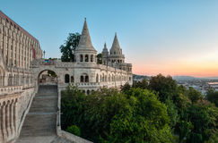 South gate of Fisherman's Bastion in Budapest Stock Images