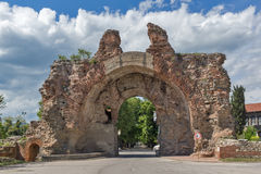 The South gate known as The Camels of ancient roman, fortifications in Diocletianopolis, town of Hisarya, Bulgaria Royalty Free Stock Images