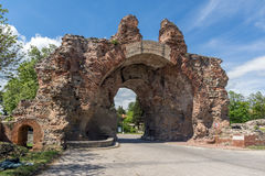 The South gate known as The Camels of ancient roman, fortifications in Diocletianopolis, town of Hisarya, Bulgaria Royalty Free Stock Image