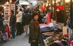 South Gate, Nam Dae Mun in Korean, Market Stock Photo