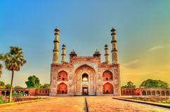 South Gate of Sikandra Fort in Agra - Uttar Pradesh, India. South Gate of Sikandra Fort in Agra - Uttar Pradesh State of India Stock Image