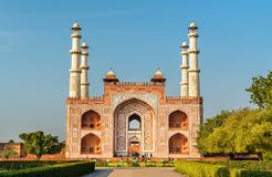 South Gate of Sikandra Fort in Agra - Uttar Pradesh, India. South Gate of Sikandra Fort in Agra - Uttar Pradesh State of India Royalty Free Stock Images
