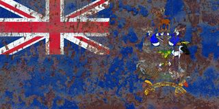 South Georgia and the South Sandwich Islands grunge flag, Britis Stock Image