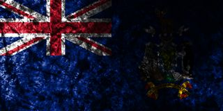 South Georgia and the South Sandwich Islands grunge flag on old di, British Overseas Territories, Britain dependent territory flag. South Georgia and the South vector illustration