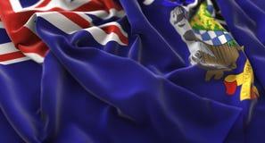 South Georgia and the South Sandwich Islands Flag Ruffled Beauti Stock Photo