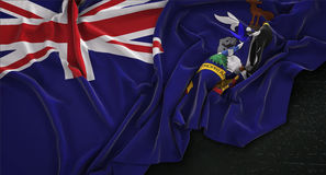 South Georgia and the South Sandwich Islands Flag Wrinkled On Da Royalty Free Stock Images