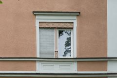 Facades in historical city. In a south german historical city facades with its detailed ornaments and figures describe fascinating romantic view at the time form Stock Image