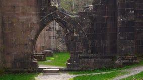 Gate of monk abbey ruin allerheiligen royalty free stock images