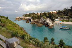 South Hampton Beach, Bermuda. View of a cove at South Hampton Beach in Bermuda Royalty Free Stock Photography