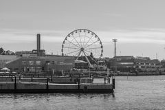South harbor, with the SkyWheel, in Helsinki Stock Photography
