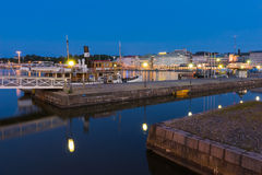 South Harbour at Night Stock Photography