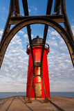 South Haven Light Through Catwalk Royalty Free Stock Photo