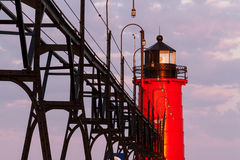 South Haven Light at Sunrise Stock Photos