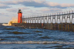 South Haven Lighthouse Royalty Free Stock Images