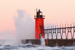 South Haven Lighthouse Royalty Free Stock Photos