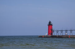 South Haven Lighthouse Stock Image