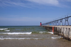 South Haven Lighthouse Royalty Free Stock Photo