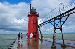 South Haven lighthouse Royalty Free Stock Image