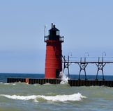 South Haven Pierhead Light Stock Photography