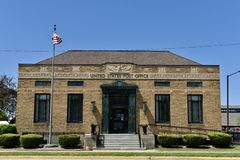 South Haven Post Office. This is a Spring picture of the United States Post Office located in South Haven, Michigan in Allegan County.  This building was Stock Images