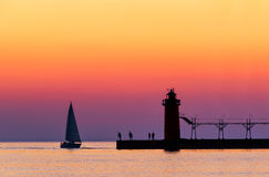 South Haven Twilight Stock Photography