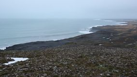 South Iceland coast stock video footage