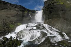 This is Icelandic South highlands waterfall and is possible to wake towards it.