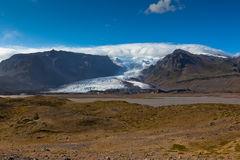 South Icelandic mountain landscape with glacier Royalty Free Stock Image