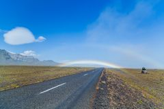 South icelandic road landscape Stock Photos