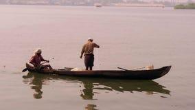 South india, fishermen stock video