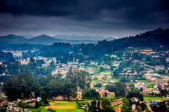 South Indian City. Indian Beautiful view to the houses In OOTY City,South India Royalty Free Stock Images