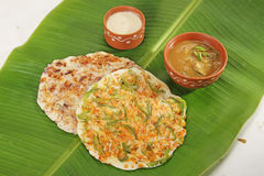 South Indian Dish Uthappams with sambar Royalty Free Stock Images