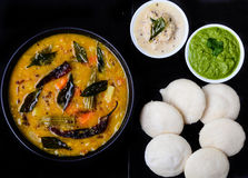 South Indian Food. Idli Vada Sambhar ,South Indian food Stock Photo