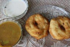 Sambhar Vada. South Indian Food Sambhar, Vada and Coconut chutney Royalty Free Stock Image