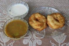 Sambhar Vada. South Indian Food Sambhar, Vada and Coconut chutney Royalty Free Stock Photo