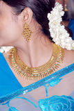 South indian lady. A south indian bridal hand decorated with ornaments Stock Photography
