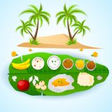 South Indian meal for Onam festival Royalty Free Stock Image