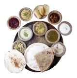 South Indian Meals with clipping mask Royalty Free Stock Photo