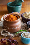 South Indian Rasam powder stock photo