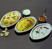 South Indian Rice Combo Royalty Free Stock Image