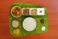 South Indian Simple Meals Stock Image