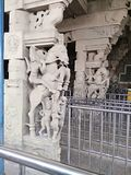 South india tamilnadu's stone sculpture for Horse warrior. royalty free stock photography