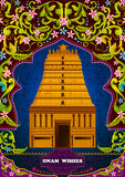 South Indian temple structure building for Happy Onam Royalty Free Stock Images